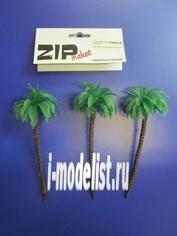 70012 ZIPMaket Королевская пальма 130 мм (3 штуки) пластик