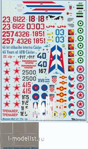 48002 Begemot 1/48 Декаль Микоян М&Г-21