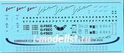 WT015 PasDecals 1/144 Декаль с использованием белой печати на Embaer E195 АК ВИМ АВИА