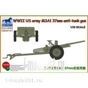 CB35147 Bronco 1/35 US Army M3A1 37mm Anti Tank Gun