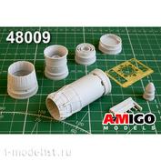 AMG48009 Amigo Models 1/48 МiGG-23МЛ, МiGG-23МЛД Реактивное сопло двигателя Р-35