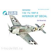 QD32062 Quinta Studio 1/32 3D Cabin Interior Decal Fw 190F-8 (for Revell model)