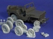 35.2262 X Resicast 1/35 Blown & Burnt Out Jeep Tires