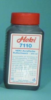 7110 Heki Acrylic dye. Black, carbon black 200 ml