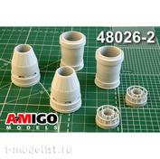 AMG48026-2 Amigo Models 1/48 Суххой-57 сопло двигателя АЛ-41Ф1С