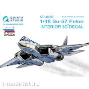 QD48082 Quinta Studio 1/48 3D Декаль интерьера кабины арт. 4824 (для модели Звезда)