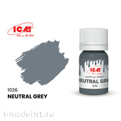 C1036 ICM Paint for creativity, 12 ml, color Neutral Gray)