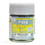GX213 Gunze Sangyo Краска Mr.Hobby Mr.Metallic Color GX: Бело-серебряный металлик, 18 мл.
