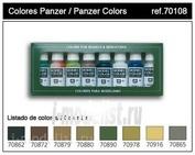 70108 Vallejo Краска акриловая `Model Color` Набор №8 Panzer Colours 6 цветов.