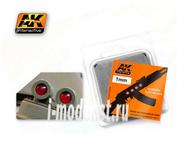 AK201 AK Interactive Линзы прозрачные красные RED 1mm