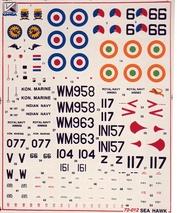 72012 Kanga 1/72 Декаль на самолет Sea Hawk