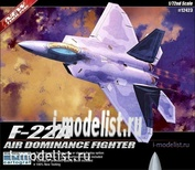 12423 Academy 1/72 F-22A Air Dominance Fighter