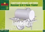 35041 Макет 1/35 Советский прицеп-цистерна