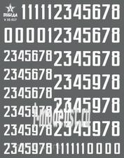 V35017 Победа 1/35 Сухая декаль Цифры для бронетехники. Вариант 1. Высота: 7,92/10,80 мм. СССР, Россия, другие страны.