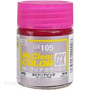 GX105 Gunze Sangyo Краска целлюлозная Mr.Hobby на растворителе, цвет Розовый прозрачный, 18 мл.