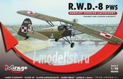 485002 Mirage Hobby 1/48 R.W.D.-8 PWS (Trainer and Liaison plan version)