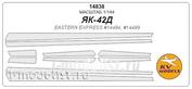 14838 KV Models 1/144 Mask for Yak-42D