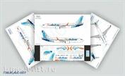 738MAX-007 Ascensio 1/144 Декаль на самолёт Боеiнг 737-8 MAX (FIy Dubai)