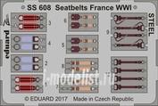 SS608 Eduard 1/72 Цветное фототравление для Ремни Франция WWI СТАЛЬ