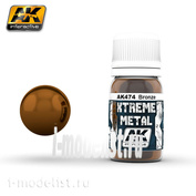 AK474 AK Interactive XTREME METAL BRONZE (metallic bronze)