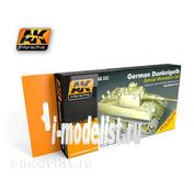 AK-552 AK Interactive Набор акриловых красок GERMAN DUNKELGELB MODULATION SET (немецкий тёмно-желтый) (6 красок)