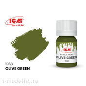C1068 ICM Paint for creativity, 12 ml, Olive Green)