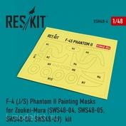 RSM48-0004 Reskit 1/48 Окрасочная маска для F-4 (J/S) Phantom II