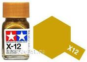 80012 Tamiya X-12 Gold Leaf (Золотистая) Эмалевая краска