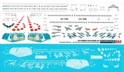 320-18 PasDecals 1/144 Decal on A320 Brussel Arlines TINTIN