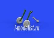 672108 Eduard 1/72 Дополнение для Spitfire Mk.IX wheels 4 spoke, smooth tire