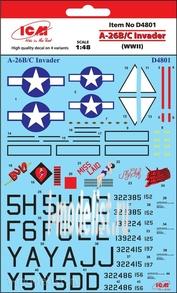 D4801 ICM 1/48 Декаль для A-26B/C Invader (WWII)