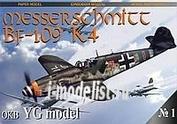 YG01 YG Model 1/33 Messerschmitt Bf-109 K4