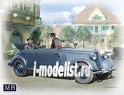 35113 MasterBox 1/35 Немецкий военный автомобиль, тип 170 V, легковой автомобиль с экипажем, период Второй мировой войны