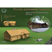 1205 Sbmodel 1/72 House of Peter I from Arkhangelsk, XVIII century