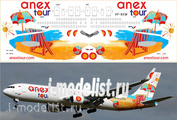 767300-03 PasDecals 1/144 Scales Decal for Boeing 767-300 Anex Tour