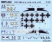 AMLD 72 035 AML 1/72 Декаль для German Aces in Focke Wulf Fw 190A's, Part I