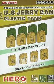 E35008 Hero Hobby 1/35 Modern U.S Jerry Can & Plastic Tank