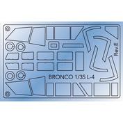 AB3510 Bronco 1/35 Маска для Piper Cub L-4H