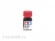 80027 Tamiya X-27 Clear Red (Прозрачно-красная) Эмалевая краска