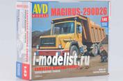 1286AVD AVD Models 1/43 Magirus-290D26K самосвал