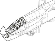7095 CMK 1/72 Набор дополнений F-8 Crusader - interior set for ACA
