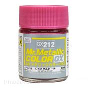 GX212 Gunze Sangyo Краска Mr.Hobby Mr.Metallic Color GX: Персиковый металлик, 18 мл.