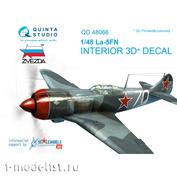 QD48066 Quinta Studio 1/48 3D Декаль интерьера кабины Ла-5ФН (для модели Звезда)