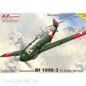 "AZ7664 AZModel 1/72 Истребитель Bf 109E-3 ""In Swiss Service"""