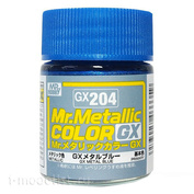 GX204 Gunze Sangyo Краска Mr.Hobby Mr.Metallic Color GX: Синий металлик, 18 мл.