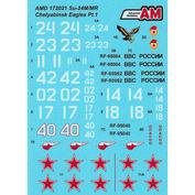 AMD172021 Advance Modeling 1/72 Decals for Sukhoi-24M / MR, Chelyabinsk a / b Shagol