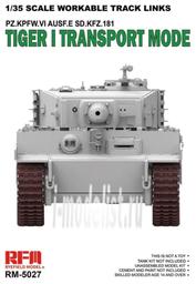 RM-5027 Rye Field Model 1/35 Workable Track Links Tiger I Transport Mode
