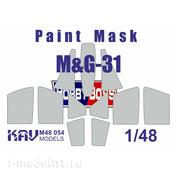 M48 054 KAV Models 1/48 Paint mask for glazing MiGG-31 (HobbyBoss)