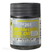 GX201 Gunze Sangyo Краска Mr.Hobby Mr.Metallic Color GX: Черный металлик, 18 мл.