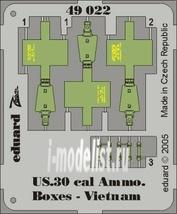 49022 Eduard 1/48 Фототравление для US Cal.0.30 Ammo. Boxes Vietnam
